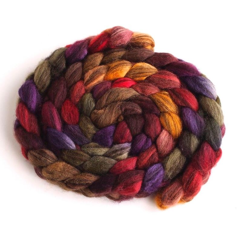 Capturing Fall on Mixed BFL Wool Roving