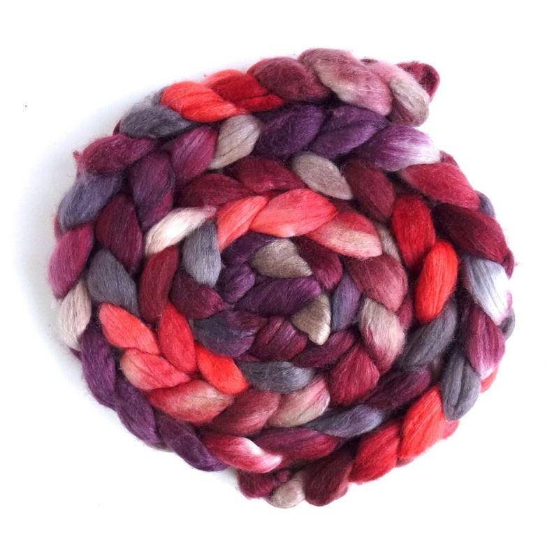 Merino/ Silk Roving (Top) - Hand Painted Spinning