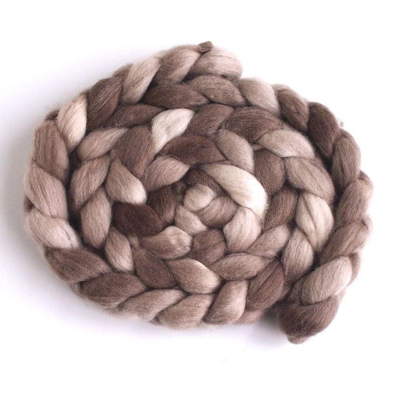 Goose Brown on Falkland Wool Roving