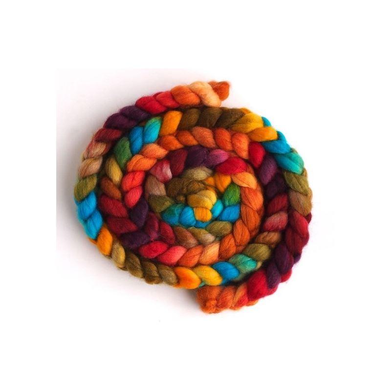Summer Palette on Superwash Merino/ Nylon Roving-1