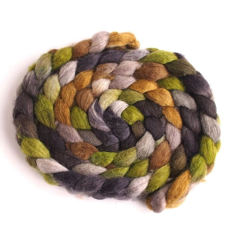 Liken to Lichen on Mixed BFL/Silk Roving