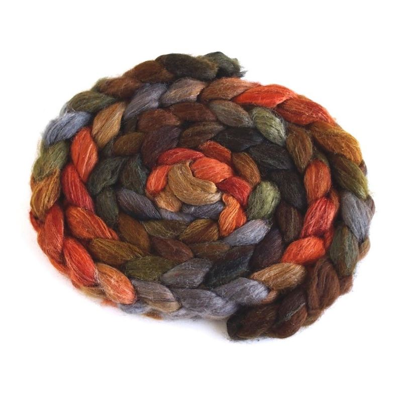 Autumn Splendor on Polwarth/Silk Roving