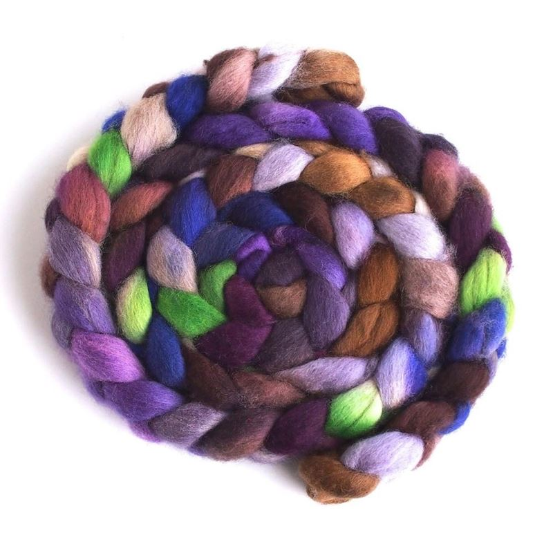 Night Charm - Falkland Wool Roving-1