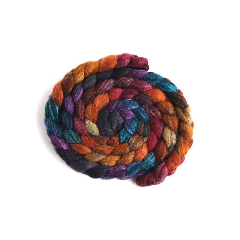 African Sunset - Polwarth/Silk Roving-1