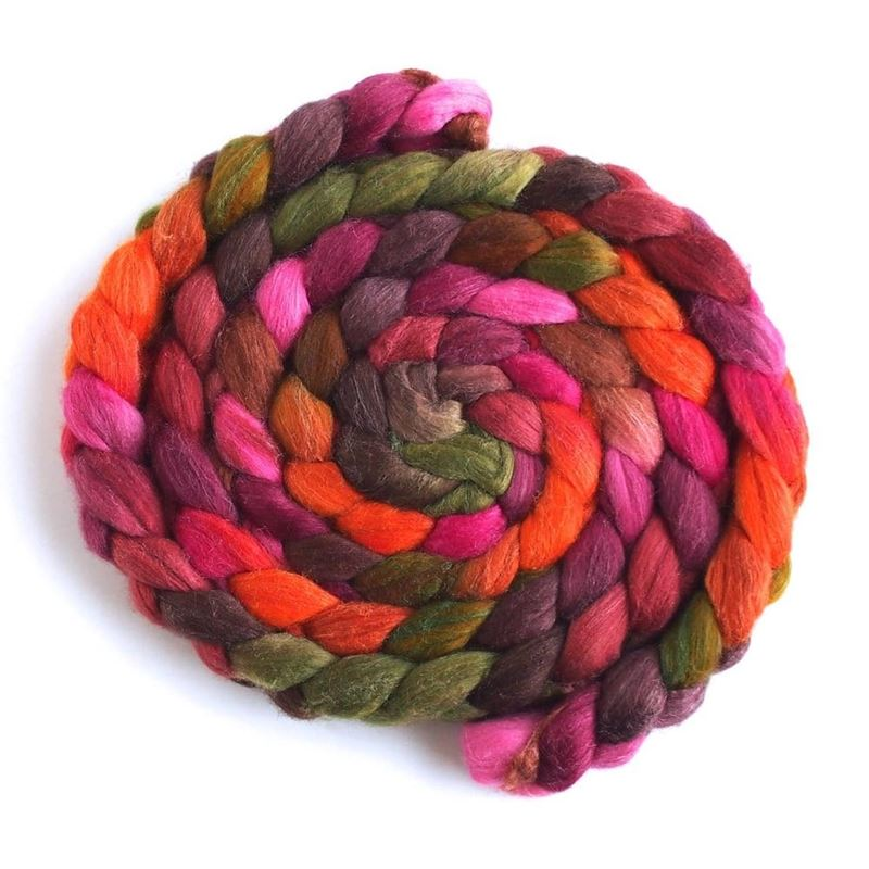 Living Color on Merino/ Silk Roving1