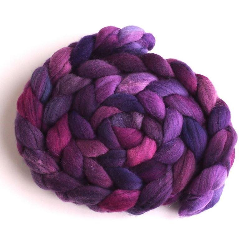Flag Violet on Rambouillet Wool 1